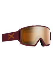 View the Anon M3 Goggles - Maroon/Sonar Bronze from the Mens clothing range online today from Boarderline