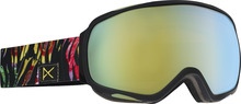 View the Anon Tempest Goggle - Jungle/Gold Chrome from the Womens clothing range online today from Boarderline