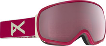 View the Anon Tempest Goggle - Strawberry/Silver Rose from the Womens clothing range online today from Boarderline