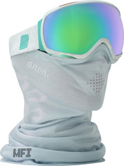 View the Anon Tempest MFI Goggles - Empress White/Green Solex from the Womens clothing range online today from Boarderline