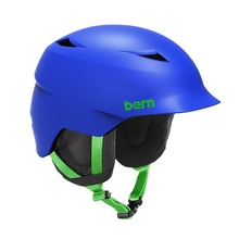 View the Bern Camino Kids Helmet - Satin Cobalt from the Kids clothing range online today from Boarderline