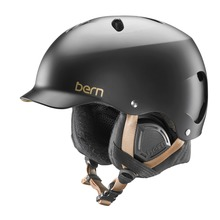 View the Bern Lennox Womens Helmet - Satin Black from the Women clothing range online today from Boarderline