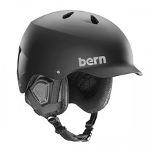 View the Bern Watts Helmet - Matt Black with Audio Liner from the Men clothing range online today from Boarderline
