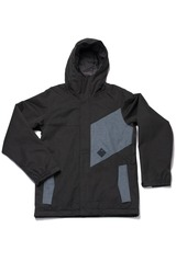 View the Bonfire Benson Jacket - Black/Smoke from the Mens Snowboard Jackets clothing range online today from Boarderline