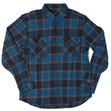 View the Brixton Bowery Shirt - Blue/Navy from the Shirts clothing range online today from Boarderline