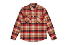 View the Brixton Bowery Shirt - Red/Copper from the Shirts clothing range online today from Boarderline