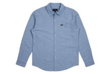 View the Brixton Charter Shirt - Light Blue Chambray from the Shirts clothing range online today from Boarderline