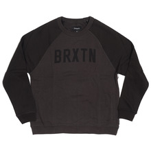 View the Brixton Hamilton Crew - Charcoal/Black from the Hoods and Crews clothing range online today from Boarderline