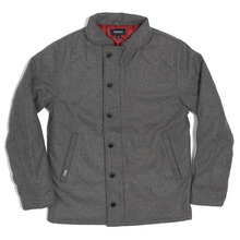 View the Brixton Mast Jacket - Heather Grey from the Jackets clothing range online today from Boarderline
