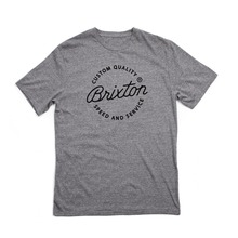 View the Brixton Newport Premium T-Shirt - Heather Grey from the T-Shirts clothing range online today from Boarderline