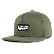 View the Brixton Normandy Snapback Cap - Olive from the Snapbacks, 6 Panel Caps clothing range online today from Boarderline