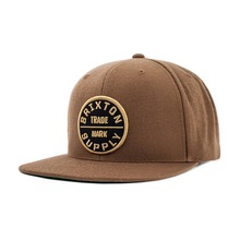 View the Brixton Oath Snapback Cap - Dark Khaki from the Snapbacks, 6 Panel Caps clothing range online today from Boarderline