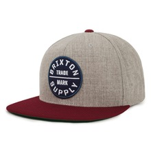 View the Brixton Oath Snapback Cap - Heather Grey/Cardinal from the Snapbacks, 5 Panel Caps clothing range online today from Boarderline