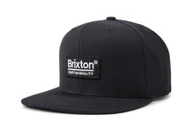 View the Brixton Palmer Snapback Cap - Black from the Clothing clothing range online today from Boarderline