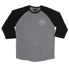 View the Brixton Wheeler 3/4 Sleeve - Black/Grey from the T-Shirts clothing range online today from Boarderline