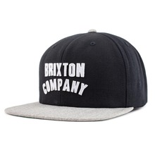 View the Brixton Woodburn Snapback Cap - Black/Light Heather Grey from the Snapbacks, 6 Panel Caps clothing range online today from Boarderline
