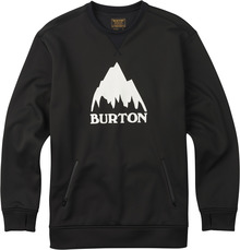 View the Burton Bonded Crew - True Black from the Fleece/Layering clothing range online today from Boarderline