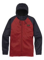 View the Burton Bonded Full Zip Hood - Bitters Heather from the Fleece/Layering clothing range online today from Boarderline
