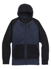 View the Burton Bonded Full Zip Hood - Mood Indigo Twill from the Fleece/Layering clothing range online today from Boarderline