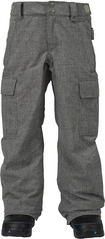 View the Burton Boys Exile Cargo Pant - Iron Grey from the Pants clothing range online today from Boarderline