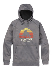 View the Burton Crown Bonded Hood - Monument Heather from the Fleece/Layering clothing range online today from Boarderline