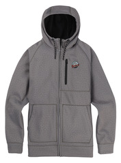 View the Burton Crown Full Zip Hood - Monument from the Fleece/Layering clothing range online today from Boarderline