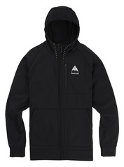 View the Burton Crown Full Zip Hood - True Black from the Fleece/Layering clothing range online today from Boarderline