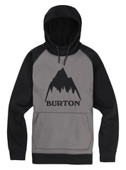 View the Burton Crown Hood Pull Over - Monument Heather from the Fleece/Layering clothing range online today from Boarderline