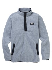 View the Burton Hearth Fleece - Grey Heather from the Fleece/Layering clothing range online today from Boarderline