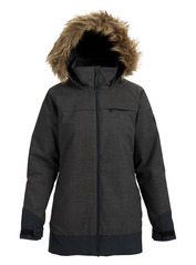 View the Burton Lelah Jacket - True Black Heather from the Womens Snowboard Jackets clothing range online today from Boarderline