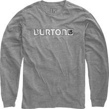 View the Burton Logo Horizontal Long Sleeve Tee - Heather Grey from the T-Shirts clothing range online today from Boarderline