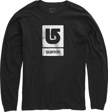 View the Burton Logo Vertical Long Sleeve Tee - Black from the T-Shirts clothing range online today from Boarderline