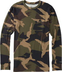 View the Burton Midweight Crew - Kelp Derby Camo from the Base Layers clothing range online today from Boarderline