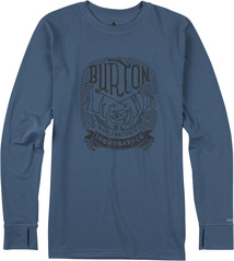 View the Burton Midweight Crew - Washed Blue from the Base Layers clothing range online today from Boarderline