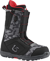 View the Burton Moto Snowboard Boot 2017 - Black/Camo from the Mens Snowboard Boots clothing range online today from Boarderline