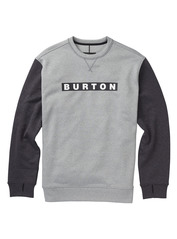 View the Burton Oak Crew - Heather/True Black from the Fleece/Layering clothing range online today from Boarderline