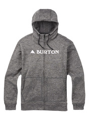 View the Burton Oak Fulll Zip Hood - True Black Heather from the Fleece/Layering clothing range online today from Boarderline