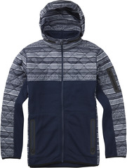 View the Burton Pierce Fleece - True Black Yarny from the Fleece/Layering clothing range online today from Boarderline