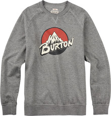 View the Burton Retro Lockup Crew - Heather Grey from the Hoods and Crews clothing range online today from Boarderline