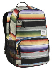 View the Burton Treble Yell Pack - Bright Sinola Stripe Print from the Backpacks clothing range online today from Boarderline