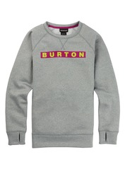 View the Burton Womens Oak Crew - Grey Heather from the Fleece/Layering clothing range online today from Boarderline