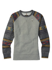 View the Burton Womens Oak Crew - Monument Heather from the Fleece/Layering clothing range online today from Boarderline