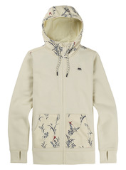 View the Burton Womens Oak Full Zip Hood - Canvas Heather from the Fleece/Layering clothing range online today from Boarderline