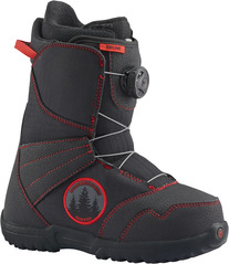 View the Burton Zipline Boa - Black/Red from the Kids Snowboard Boots clothing range online today from Boarderline