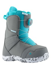 View the Burton Zipline Boa Kids Snowboard Boot - Grey/Surf Blue from the Kids Snowboard Boots clothing range online today from Boarderline