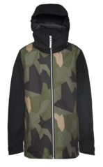 View the Colour Wear Mirror Jacket - Asymmetric Olive from the Jackets clothing range online today from Boarderline