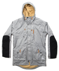 Colour Wear Punisher Parka - Grey Melange
