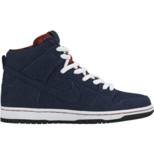 View the Nike SB Dunk High Premium Shoes - Dark Obsidian/Dark Obsidian - White from the Mens clothing range online today from Boarderline