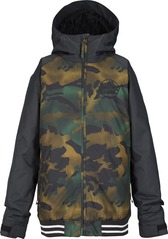 View the Burton Game Day Kids Jacket - True Black/Hickory Camo from the Jackets clothing range online today from Boarderline