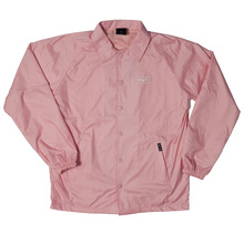 View the Huf Bar Logo Coach Jacket - Pink from the Jackets clothing range online today from Boarderline
